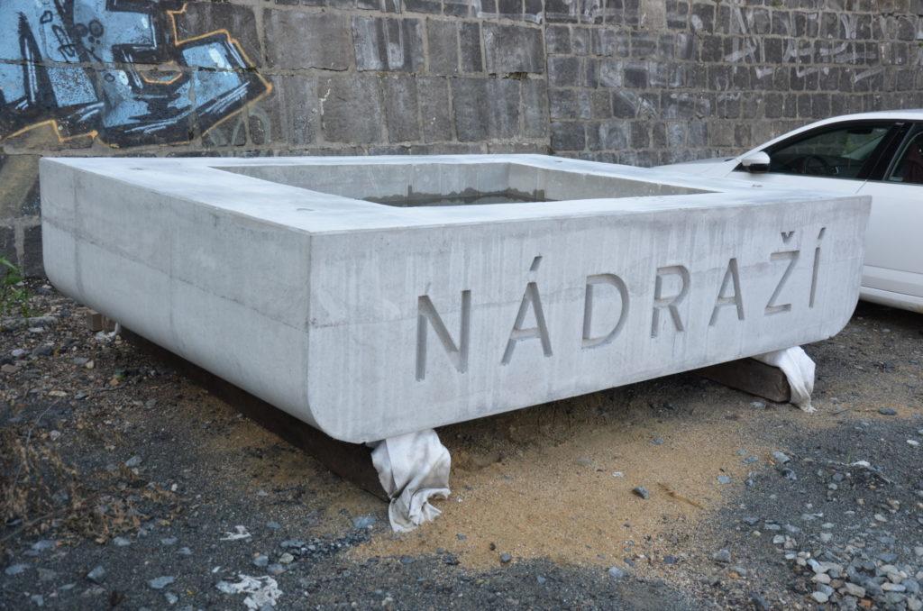 Zkušební vzorek vyrobený před betonáží hlavní konstrukce.